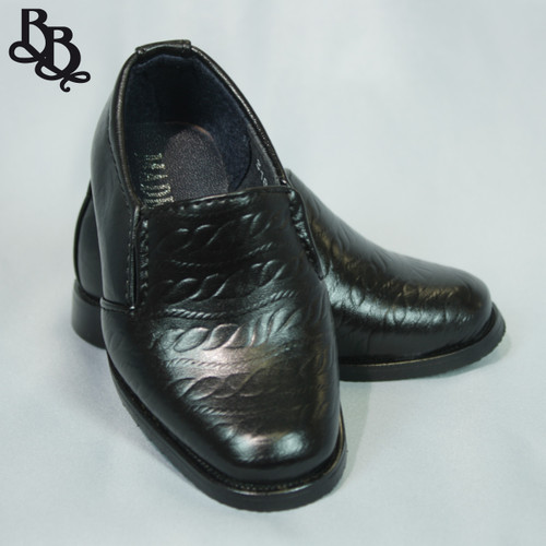 B318 Boys Faux Leather Shoe