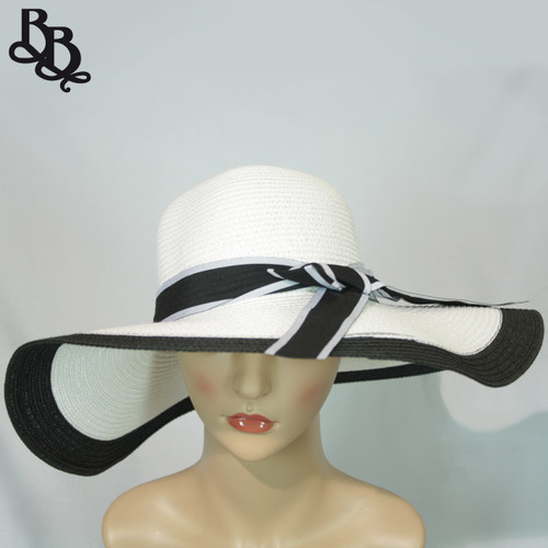 Ladies / Girls Large Straw Summer Sun Hat N606