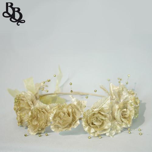 Girls Glittering Floral Halo Adjustable Headband N639