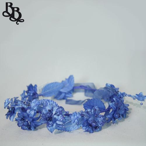 Girls Glittering Floral Halo Adjustable Headband N640