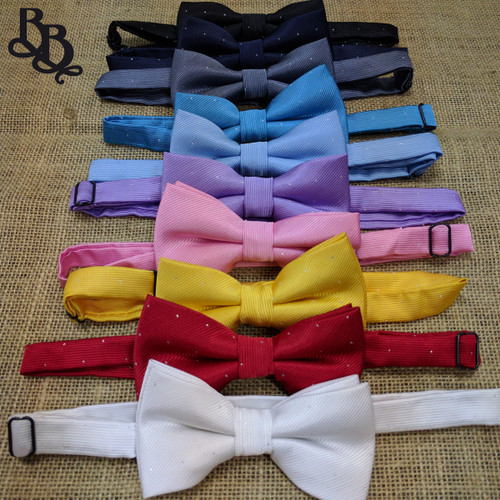 BW05 Boys coloured dotted bowtie