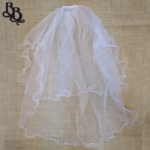 Plain Long White Veil N505