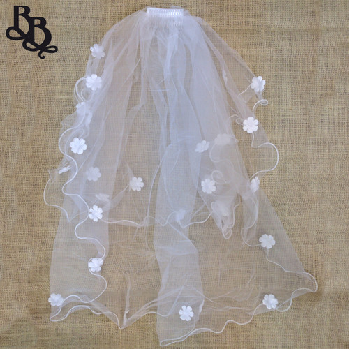 Floral Long White Veil N506