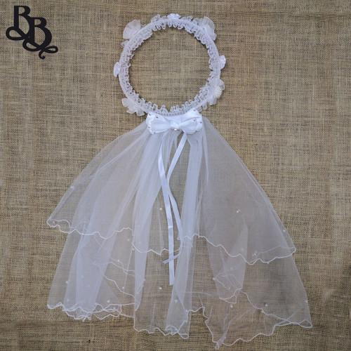 Floral Crown Headband and Veil N507