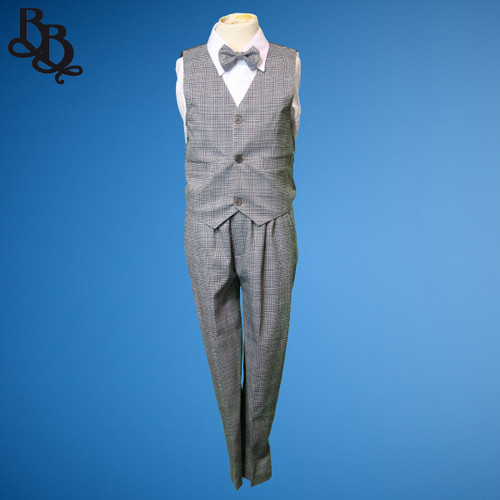 TT52 Houndstooth Plaid Pattern Page Boy Suit