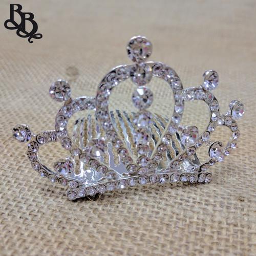 N701 Girls Arch Crown Diamante Tiara