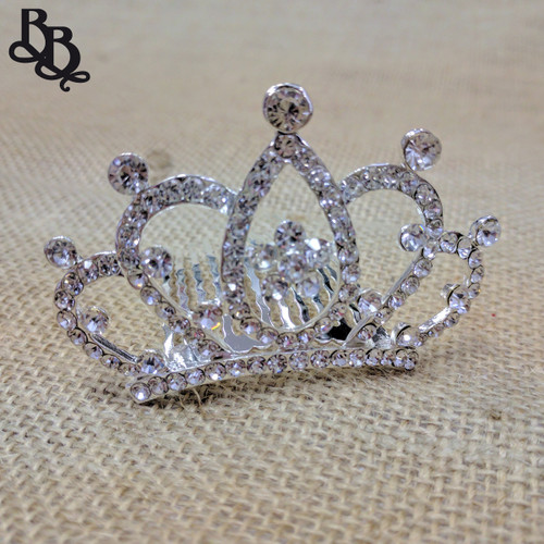 N702 Girls Tear Diamante Tiara