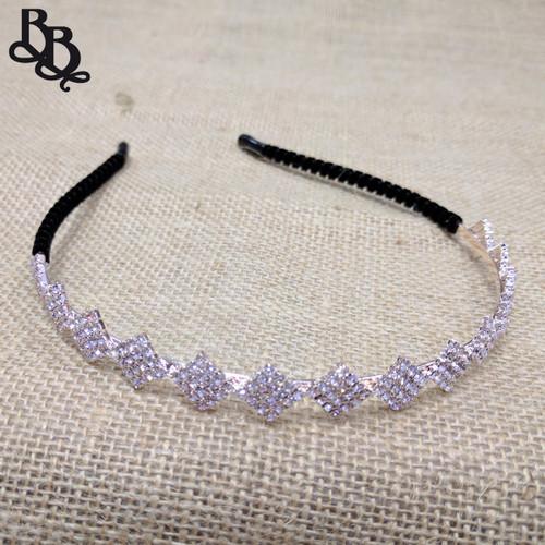 N707 Girls Diamante Tiara Headband