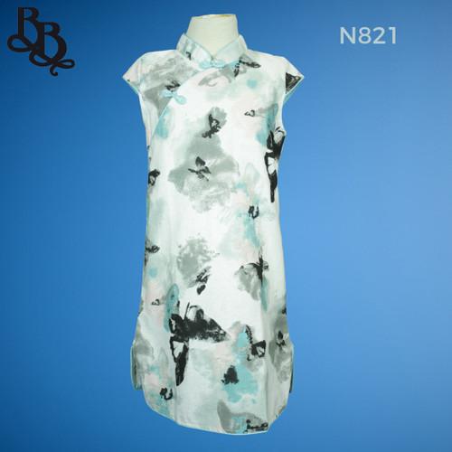 N821 Girls Oriental Cheongsam Dress