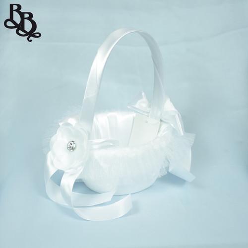 FLKT01 Small White Flowergirl Basket