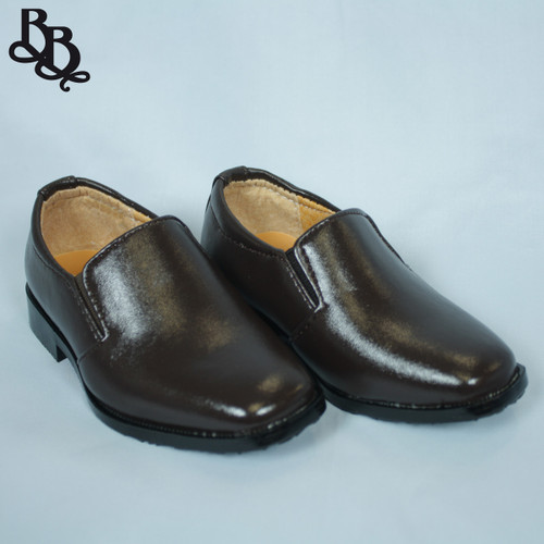B317A Boys Dark Brown Formal Shoe