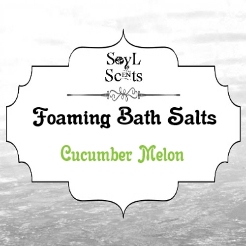 "Cucumber Melon ""Foaming Bath Salt"""