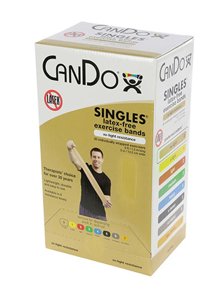 CanDo Latex Free Pre-cut Exercise Band