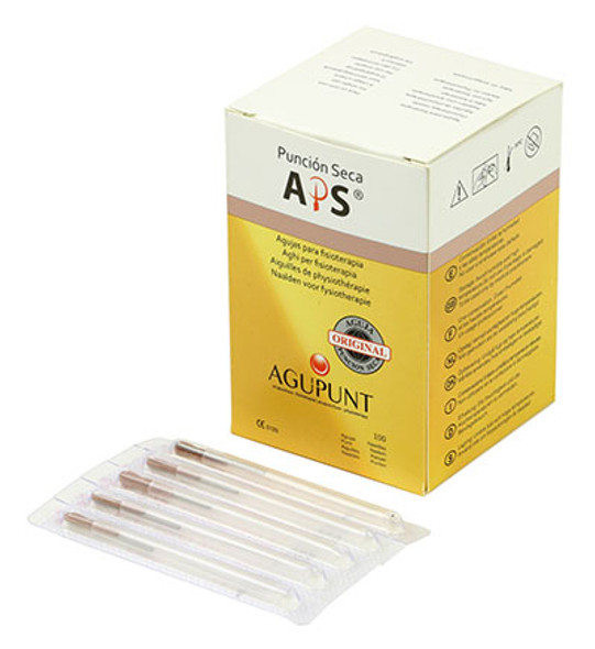 APS Dry Needling Needle, 0.25  x 30mm, Brown Tip, 100/Box