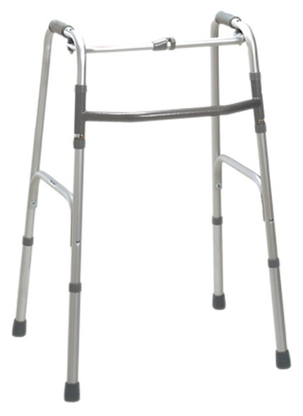 Folding 2-button walker, oversize bariatric, no wheels, 1 each