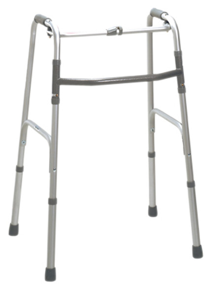 Folding 2-button walker, oversize bariatric, no wheels, 1 each
