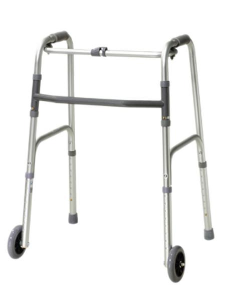 "Folding 2-button walker, 5"" wheel-glides, junior, 1 each"