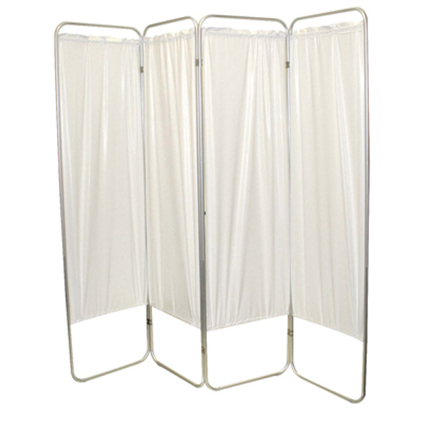 "Standard 5-Panel Privacy Screen - Green 6 mil vinyl, 84"" W x 68"" H extended, 19"" W x 68"" H x4"" D folded"