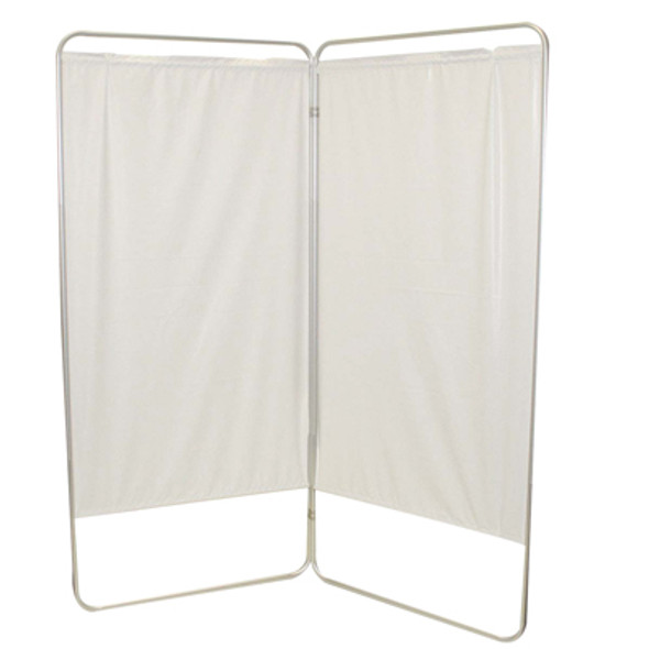 "King size 2-Panel Privacy Screen - Yellow 4 mil vinyl, 69"" W x 68"" H extended, 31"" W x 68"" H x1.5"" D folded"