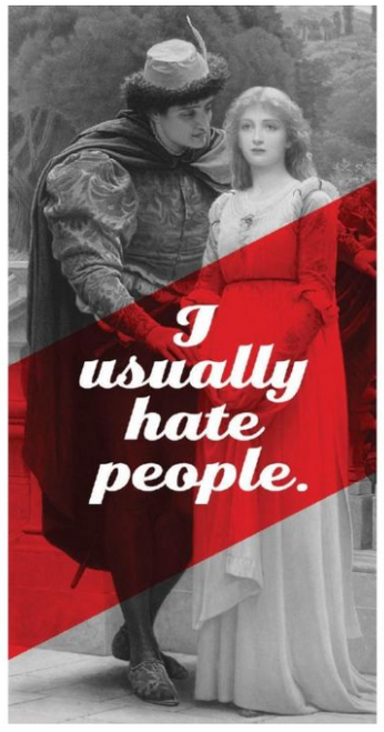 I usually hate people...Greeting card