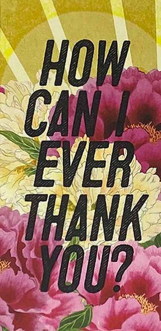 How can I ever thank you...Greeting Card