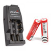 Ultrafire Charger with 2pcs 3.7V 18650 3000mAh Li-Ion Rechargeable Batteries