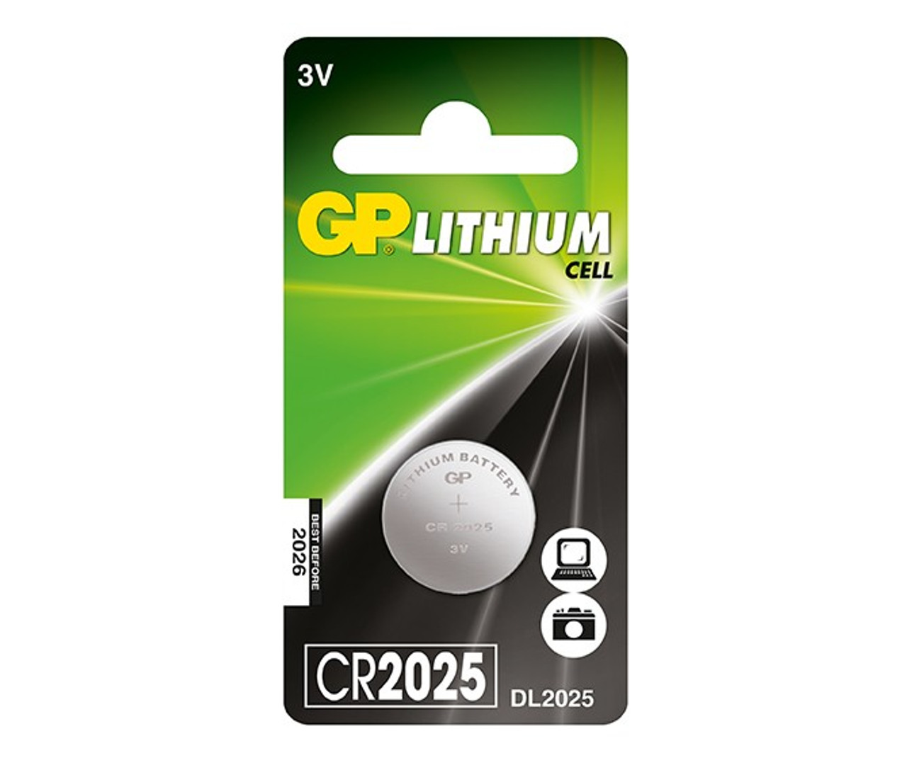 CR2025 - 3V lithium button cell, 150mAh