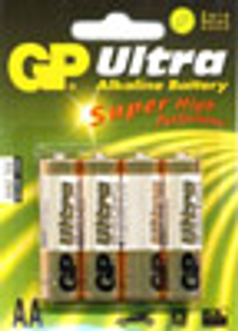Pack of 4 AA Cell Ultra Alkaline (sometimes packaged in bulk)