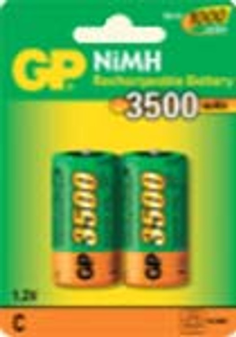 Pack of 2 C Cell NiMH 3500mAh 1.2V cell Rechargeable Battery