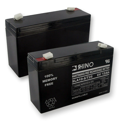 RHINO SLA 10-6/T25 6V 12.0Ah battery (replacement)