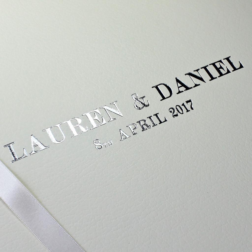 Classic Ivory Leather Wedding Photo Album