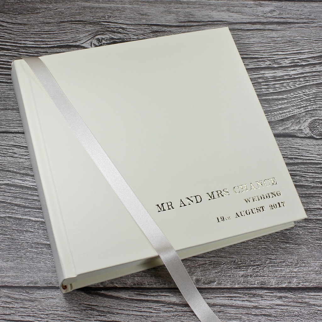 Classic Ivory Leather Wedding Photo Album