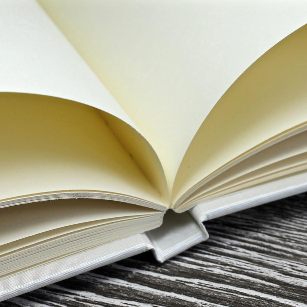 White Satin Wedding Guest Book