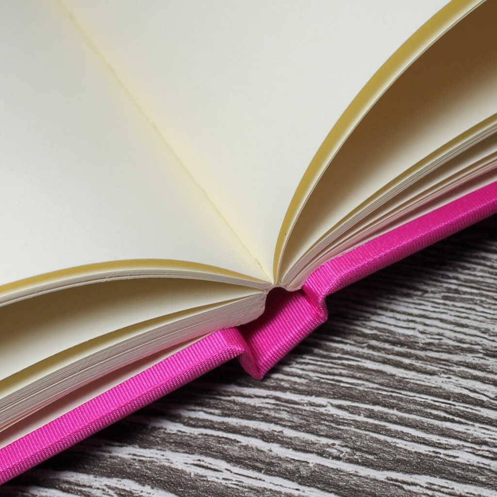 Hot Pink Satin Wedding Guest Book