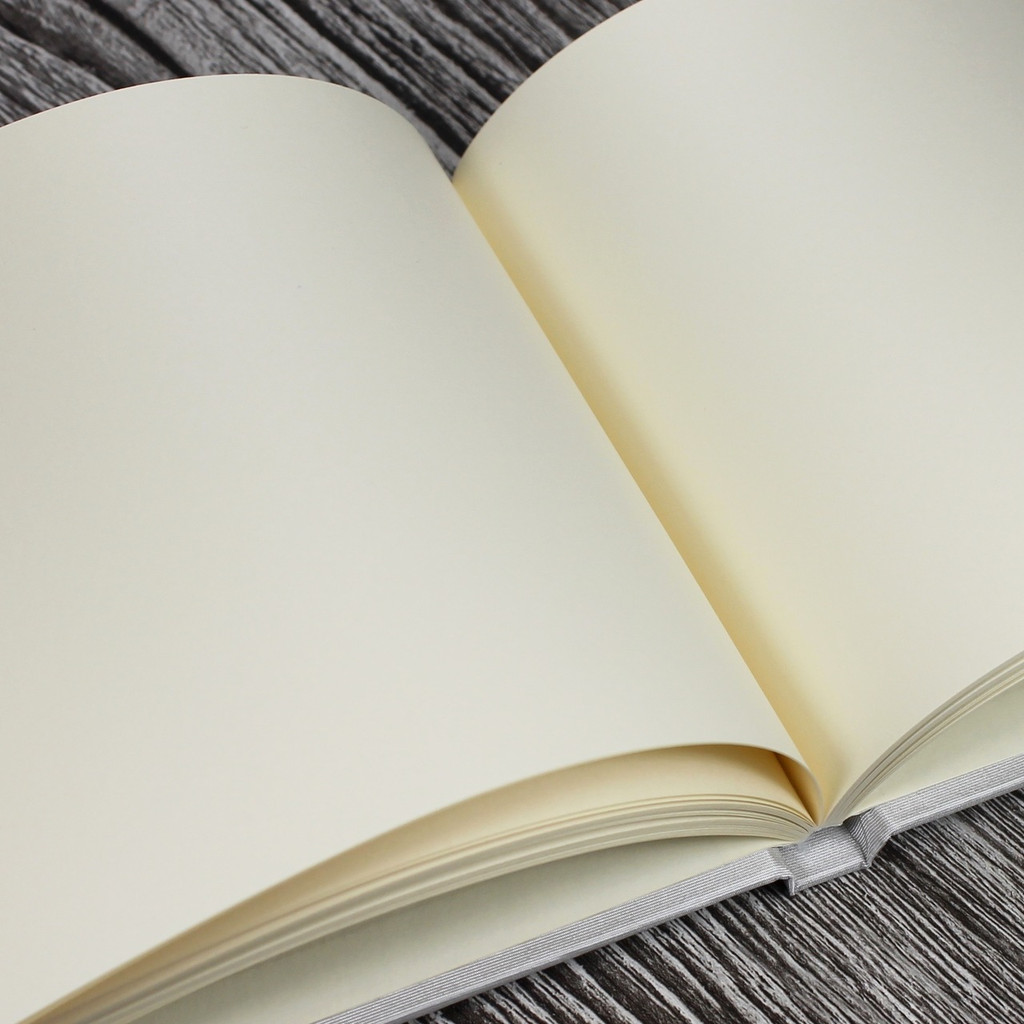Platinum Silver Satin Wedding Guest Book
