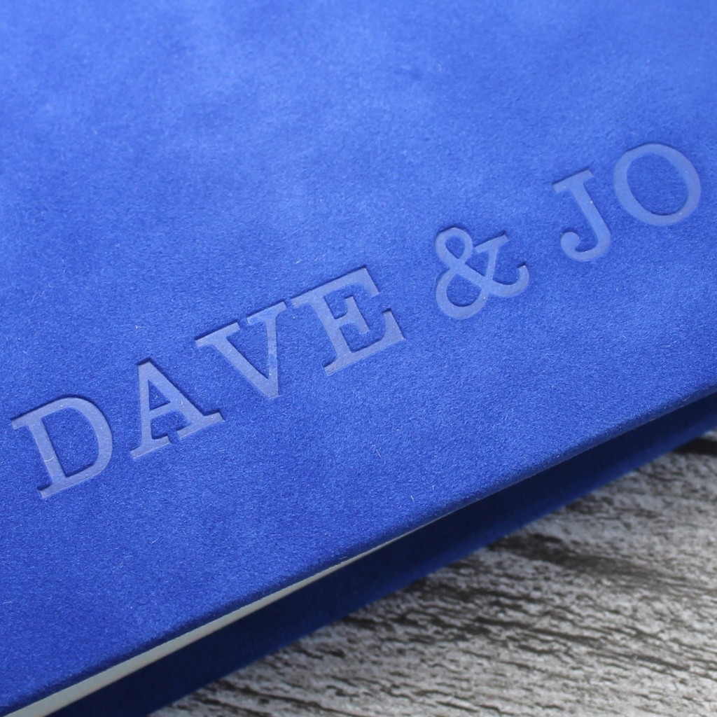 Contemporary Pacific Blue Velvety Suede Look Photo Album