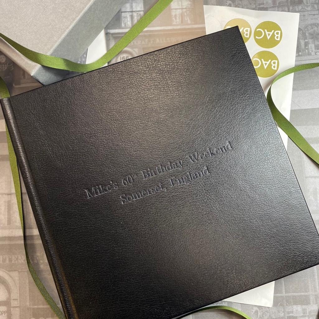 Traditional Classic Black Leather Photo Album