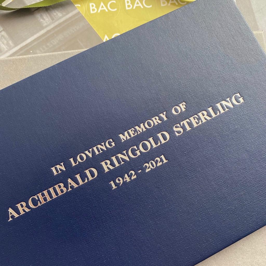 Condolence - Remembrance Book - Dark Blue