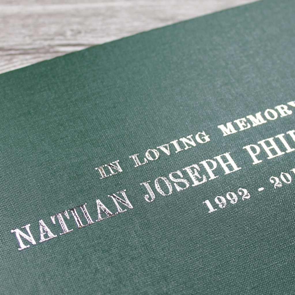 Condolence - Remembrance Book - Dark Green