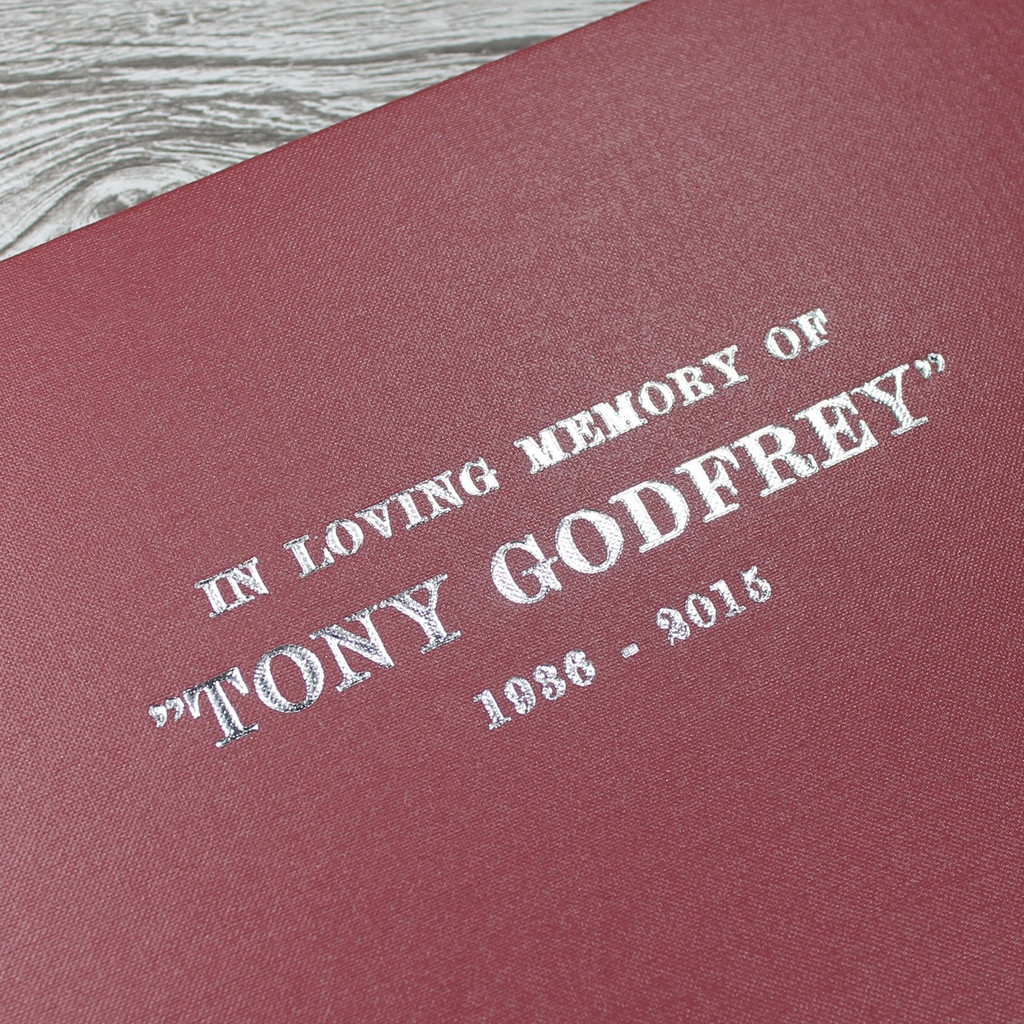 Condolence - Remembrance Book - Burgundy