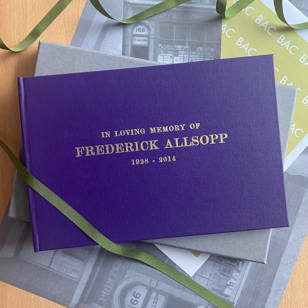 Condolence - Remembrance Book - Purple