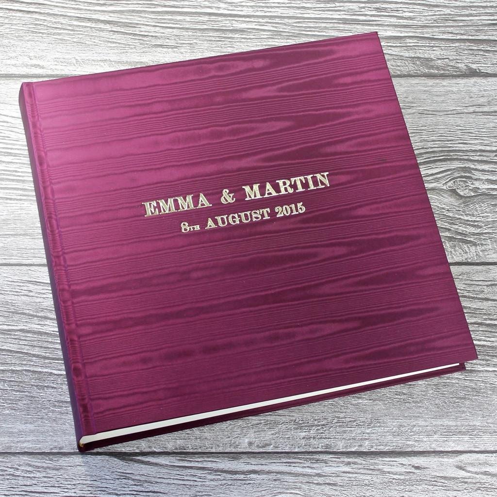 Magenta Moiré Satin Taffeta Photo Album