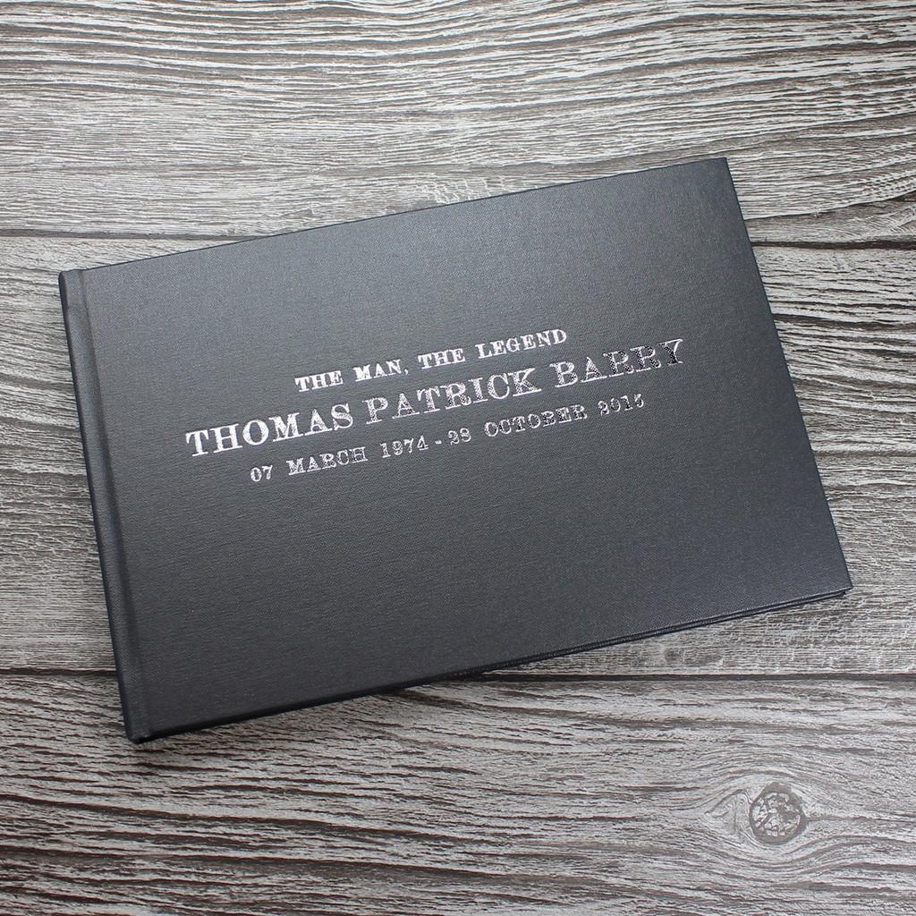 Condolence - Remembrance Book - Grey