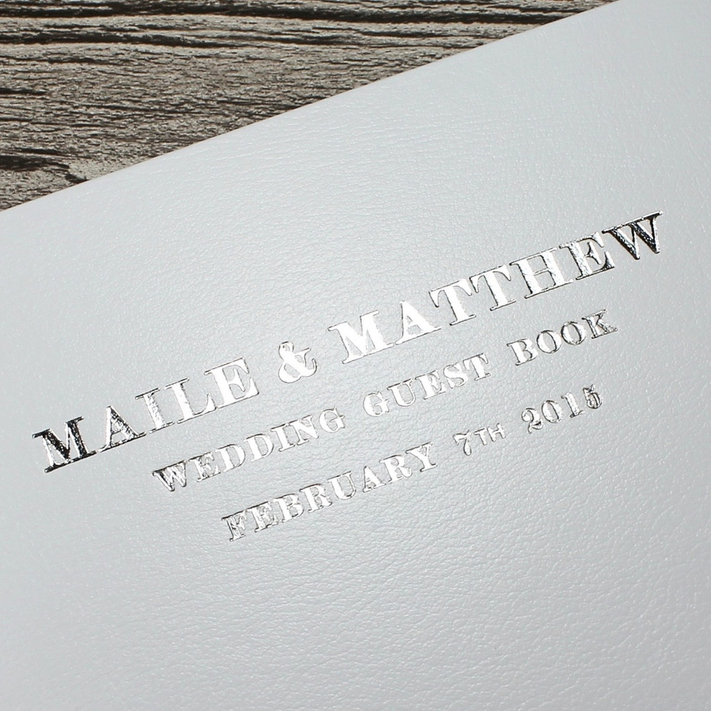 White Leather Photo Booth Guest Book