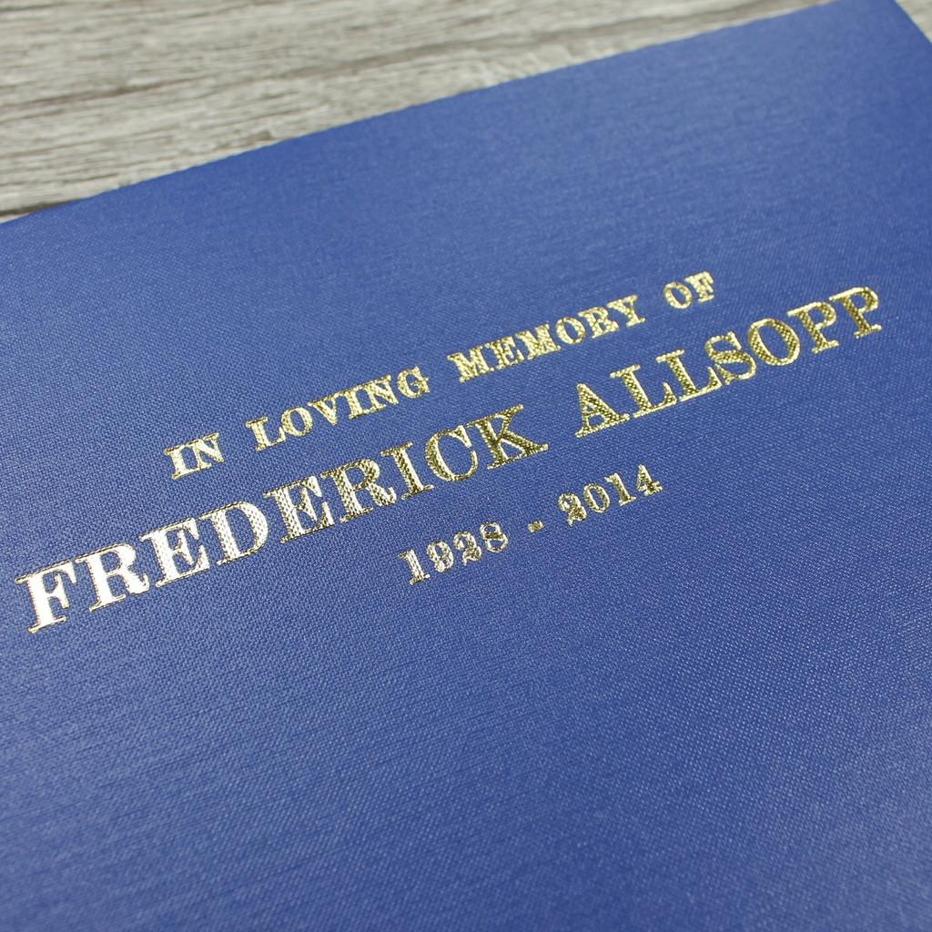 Condolence - Remembrance Book - Cobalt Blue