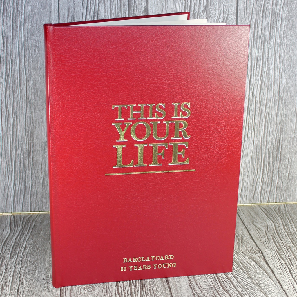 A2 'This Is Your Life' Style Red Photo Album Scrapbook