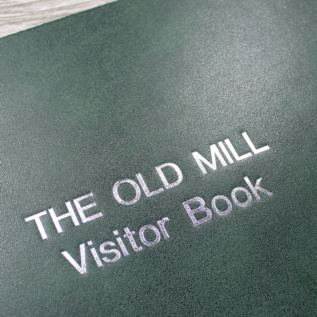 Visitor Guest Book - Dark Green Leather