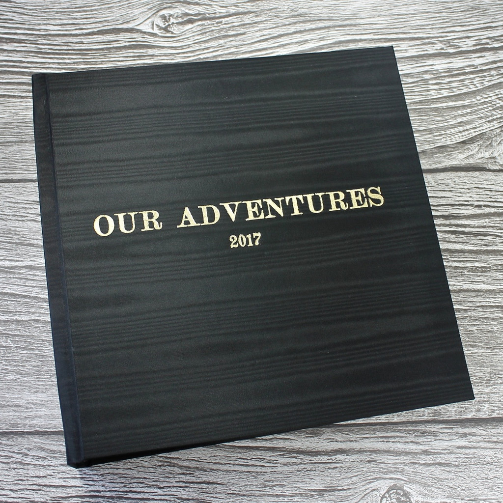 Black Moiré Satin Taffeta Photo Album