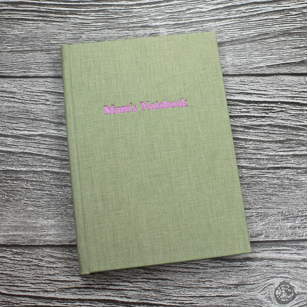 Mother's Day Journal / Notebook - Sage Green Linen - A5 Portrait
