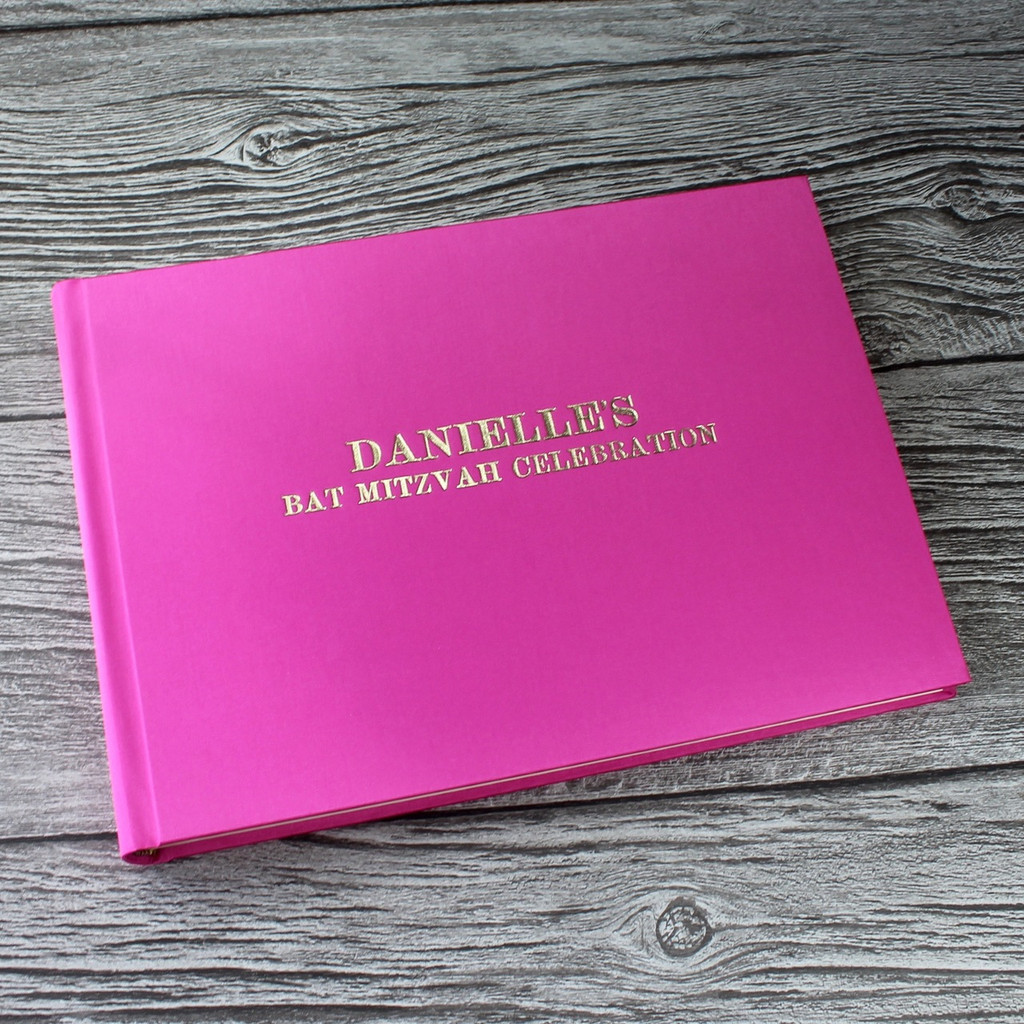 Hot Pink Satin Photo Booth Guest Book